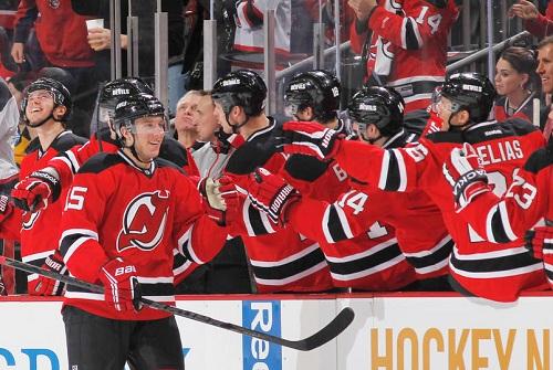 Stefan Matteau #15 of the New Jersey Devils